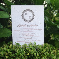Convite em Papel Semente Wedding Classic