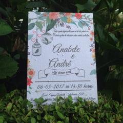 Convite em Papel Semente Wedding Colors